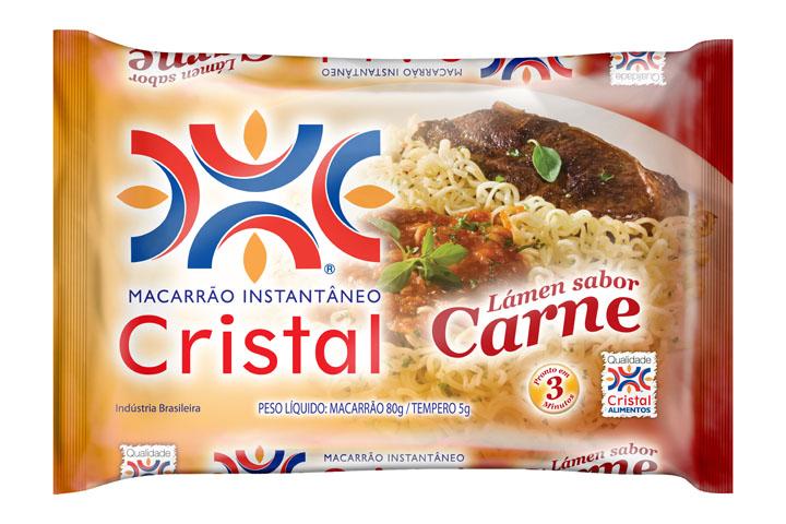 Macarrão Instantâneo Cristal Sabor Carne