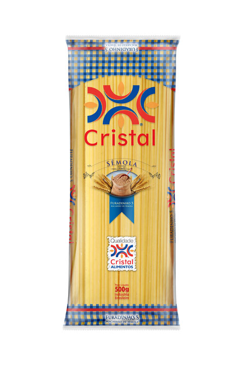 Macarrão Cristal Sêmola Furadinho 5